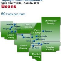 Topflight Crop Tour Map - 2018 Soybeans