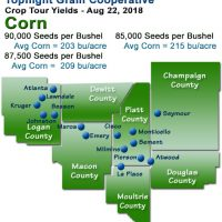 Topflight Crop Tour Map - 2018 Corn