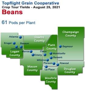 2021 Soybean Yield Map